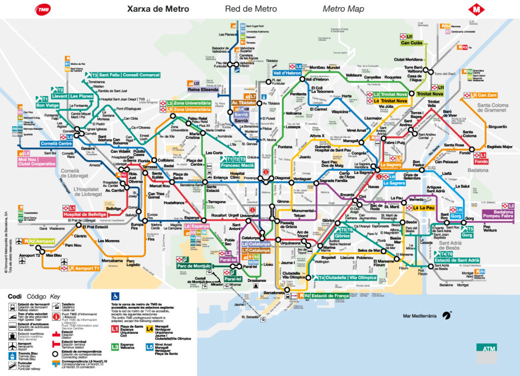 Mvv Zonen Karte.Metro Barcelona Tickets Preise 2019 Fur Die U Bahn In
